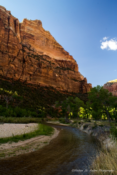 The river runs through zion